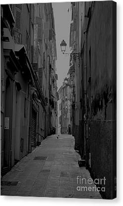 Back Streets Of Nice Canvas Print by Steven Brennan