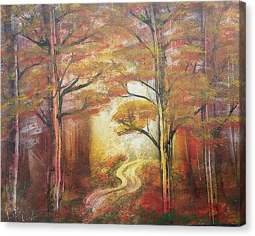 Back Woods Canvas Print by Paul Torres