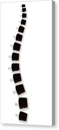Backbone Of Coffee Canvas Print by Wieteke De Kogel