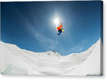 Backcountry Kicker Locals Only Canvas Print by Eric Verbiest
