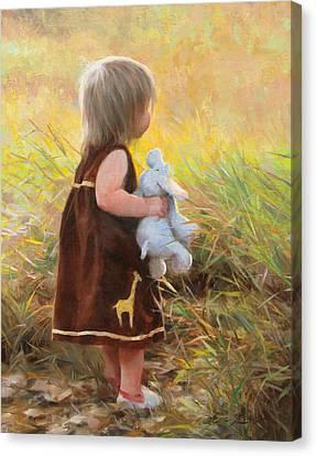 Backyard Safari Canvas Print by Anna Rose Bain