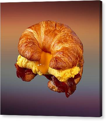 Bacon Egg Cheese Croissant  Canvas Print by Movie Poster Prints