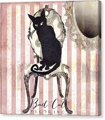 Bad Cat II Canvas Print by Mindy Sommers