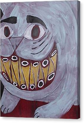 Bad Kitty Canvas Print by William Douglas