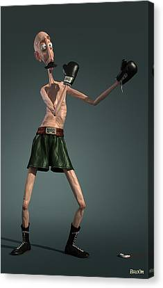 Baffi Storto - The Italian Boxer Canvas Print by BaloOm Studios