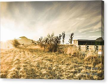 Bagdad Crisp Winter Countryside Canvas Print by Jorgo Photography - Wall Art Gallery