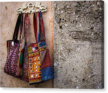 Bags Of Textures And Patterns Canvas Print by Kaleidoscopik Photography