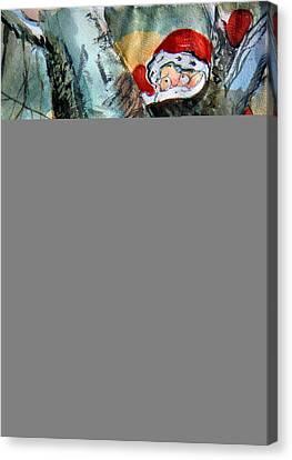 Bah Humbug Tree Canvas Print by Mindy Newman
