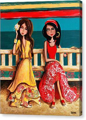 Bahama Breeze Canvas Print by Debbie Horton