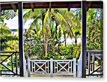 Bahama House View Canvas Print by Anthony C Chen