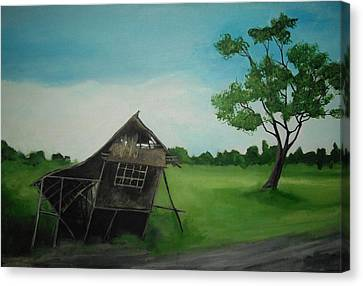 Bahay Kubo Canvas Print by Robert Cunningham