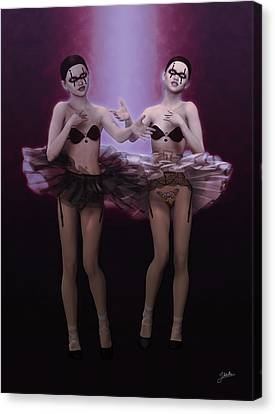 Bailarinas Fantasmas Canvas Print by Joaquin Abella