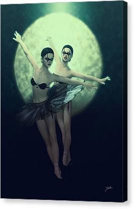 Bailarinas Malditas  Canvas Print by Joaquin Abella