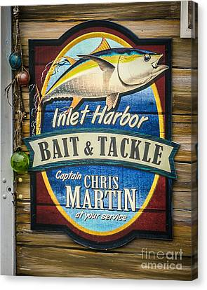 Bait And Tackle Canvas Print by Perry Webster