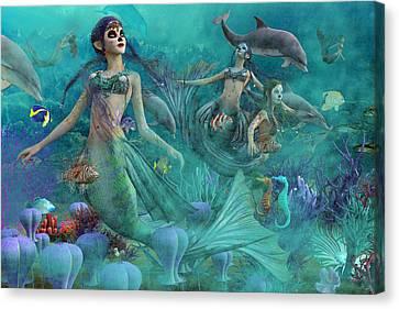 Bajo El Mar De Los Muertos  Canvas Print by Betsy Knapp