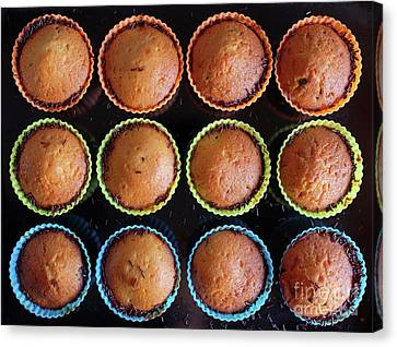 Baked Cupcakes Canvas Print by Carlos Caetano