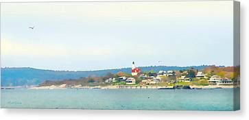 Bakers Island Lighthouse Canvas Print by Michelle Wiarda