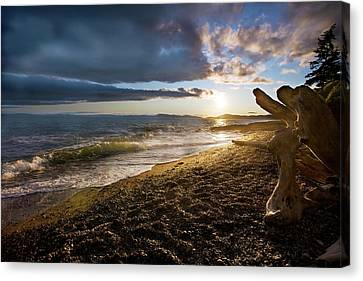 Balanced Evening Canvas Print by Mike Reid