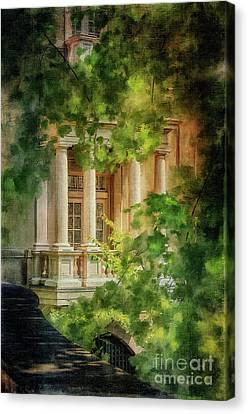 Balcony At Winterthur Canvas Print by Lois Bryan