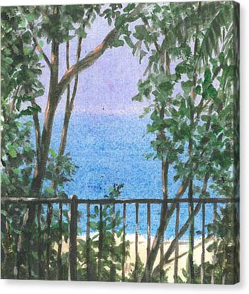 Balcony View Canvas Print by Lincoln Seligman