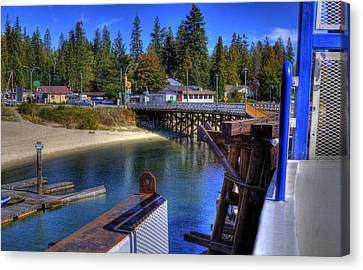 Balfour Bc Docks And Ferry  Canvas Print by Lee  Santa