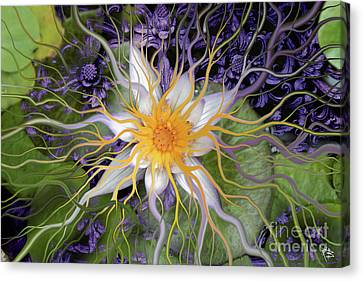 Bali Dream Flower Canvas Print by Christopher Beikmann
