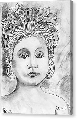 Balinese Princess Canvas Print by John Keaton