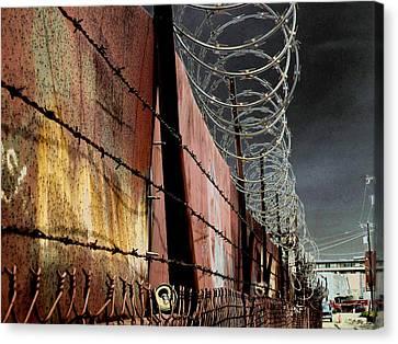 Ballard In Seattle Canvas Print by Jeff Burgess