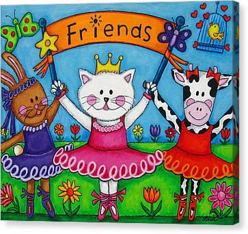 Ballerina Friends Canvas Print by Lisa  Lorenz