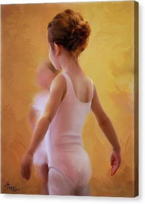 Ballerina In Pink Canvas Print by Colleen Taylor