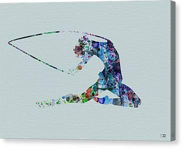 Ballerina On The Stage Canvas Print by Naxart Studio