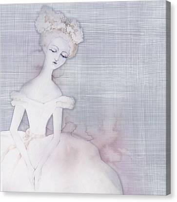 Ballerina_background Canvas Print by Anna Khokhlova