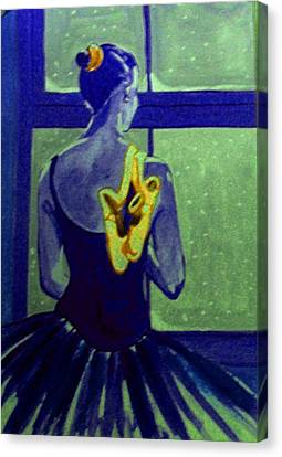 Ballerine En Hiver Canvas Print by Rusty Woodward Gladdish
