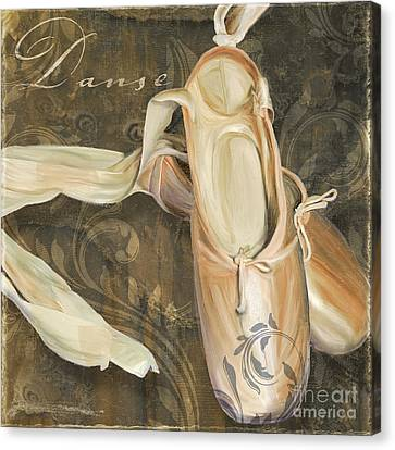 Ballet Danse En Pointe Canvas Print by Mindy Sommers