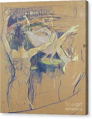 Ballet De Papa Chrysantheme, 1892 Canvas Print by Henri de Toulouse-Lautrec