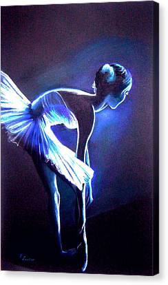 Ballet In Blue Canvas Print by L Lauter