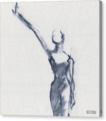 Ballet Sketch One Arm Extended Canvas Print by Beverly Brown Prints