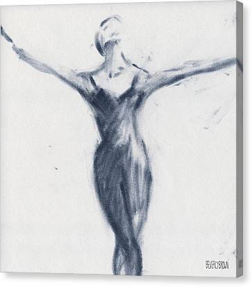 Ballet Sketch Open Arms Canvas Print by Beverly Brown Prints