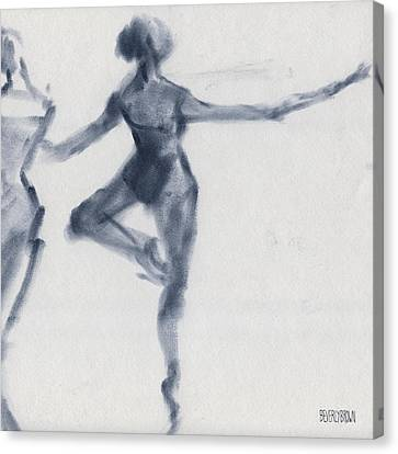 Ballet Sketch Passe En Pointe Canvas Print by Beverly Brown Prints