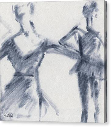 Ballet Sketch Two Dancers Gaze Canvas Print by Beverly Brown Prints