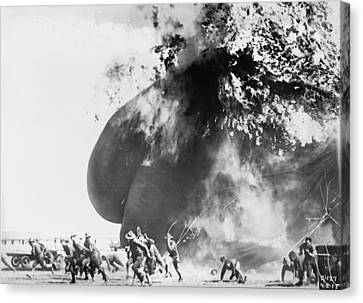 Balloon Accident, The Explosion Of An Canvas Print by Everett