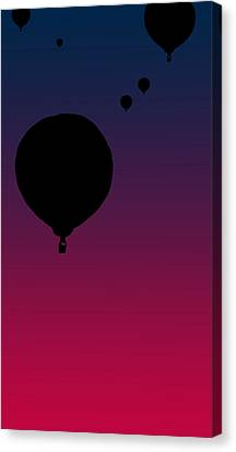 Balloons At Dusk Canvas Print by Jera Sky