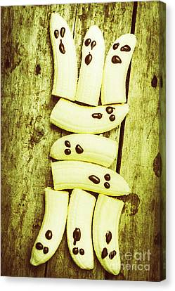 Bananas With Painted Chocolate Faces Canvas Print by Jorgo Photography - Wall Art Gallery