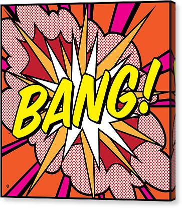 Bang Canvas Print by Gary Grayson