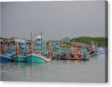 Bang Pu Fishing Village Canvas Print by Megan Martens