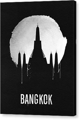 Bangkok Landmark Black Canvas Print by Naxart Studio