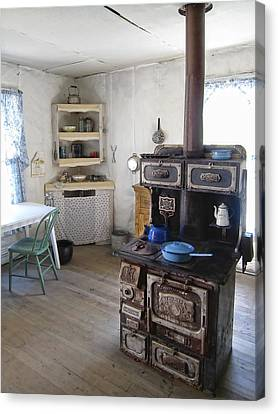 Bannack Ghost Town  Kitchen And Stove - Montana Territory Canvas Print by Daniel Hagerman