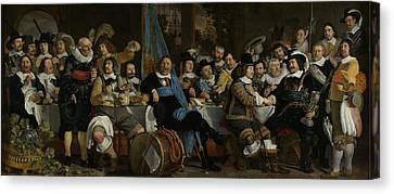 Banquet At The Crossbowmen's Guild Canvas Print by Celestial Images