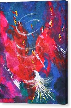 Baptism Of Fire Canvas Print by Denise Warsalla