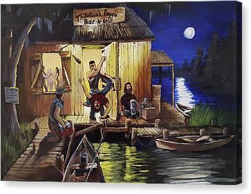 Bar Room Brawl Canvas Print by Nicolas Avet